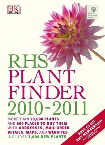 RHS Plantfinder 2010-2011   2010 9781405353700 Front Cover