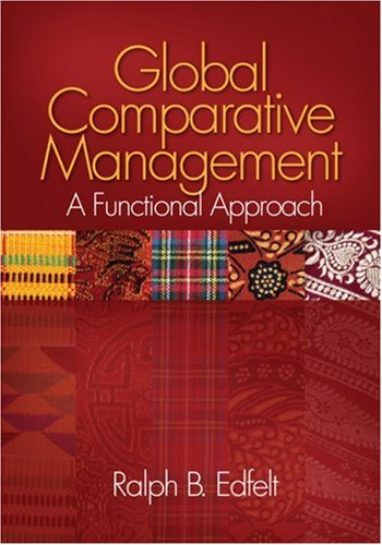 Global Comparative Management A Functional Approach  2009 edition cover