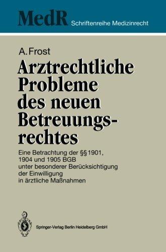 Arztrechtliche Probleme des Neuen Betreuungsrechtes   1994 edition cover