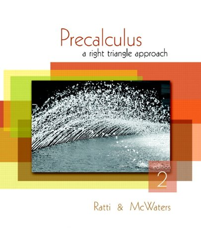 Precalculus A Right Triangle Approach 2nd 2011 edition cover