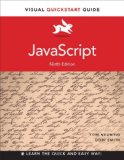 JavaScript Visual QuickStart Guide 9th 2015 edition cover