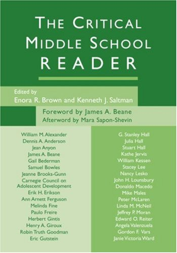 Critical Middle School Reader   2005 9780415950701 Front Cover