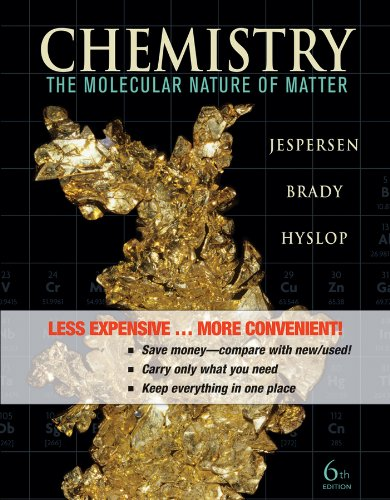 Chemistry The Molecular Nature of Matter 6th 2012 edition cover