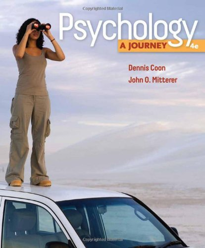 Psychology A Journey 4th 2011 edition cover