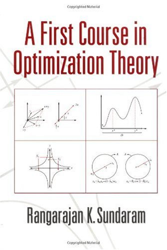 First Course in Optimization Theory   1996 edition cover