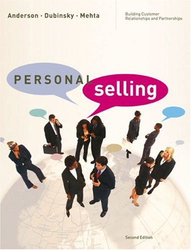Personal Selling Building Customer Relationships and Partnerships 2nd 2007 edition cover