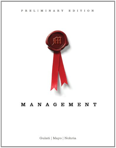 Management, Preliminary Edition   2013 edition cover
