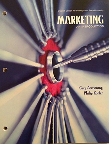 MARKETING:INTRO.(LOOSE) >CUSTOM<        N/A 9781269132701 Front Cover
