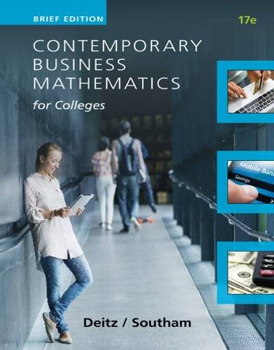 Contemporary Business Mathematics for Colleges:   2015 edition cover