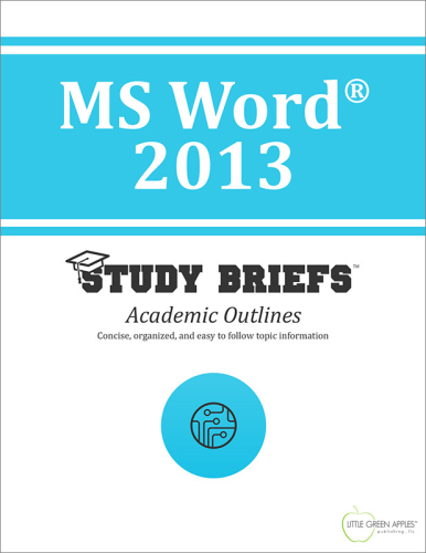 MS Word® 2013 1st 2015 9781634260701 Front Cover