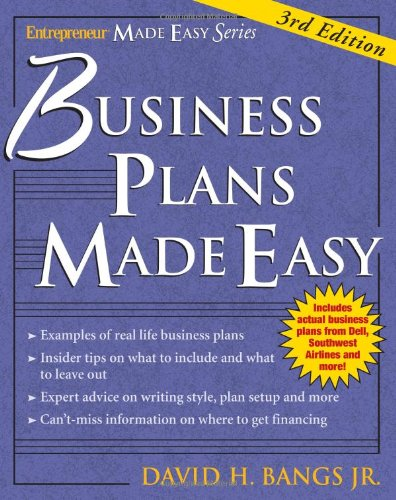 Business Plans Made Easy  3rd 2006 (Revised) 9781932531701 Front Cover