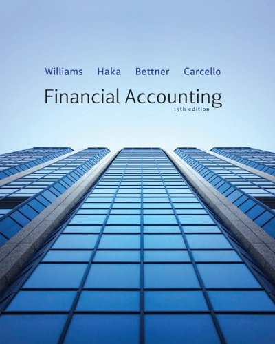 Financial Accounting  15th 2012 edition cover