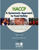 HACCP, a Systematic Approach to Food Safety : A Comprehensive Manual for Developing and Implementing a Hazard Analysis and Critical Control Point Plan 4th 2006 edition cover