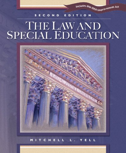 Law and Special Education  2nd 2006 edition cover