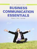 Business Communication Essentials, Fourth Canadian Edition  4th 2016 9780133508703 Front Cover