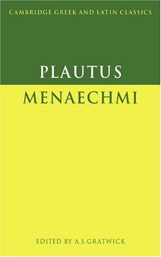 Plautus Menaechmi  1993 9780521349703 Front Cover