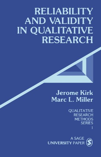 Reliability and Validity in Qualitative Research   1985 edition cover