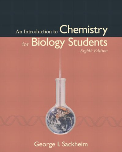 Introduction to Chemistry for Biology Students  8th 2006 (Revised) edition cover