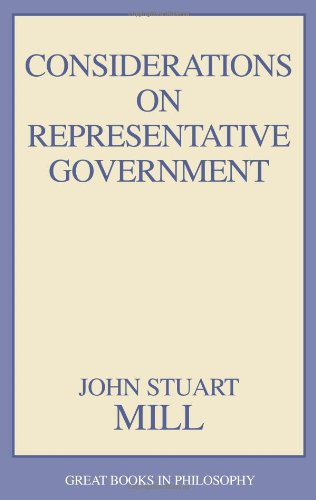 Considerations on Representative Government   1991 (Unabridged) edition cover