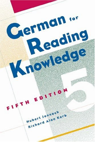 German for Reading Knowledge  5th 2005 (Revised) edition cover