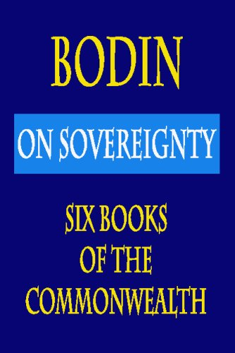 Bodin : on Sovereignty : Six Books of the Commonwealth  N/A edition cover