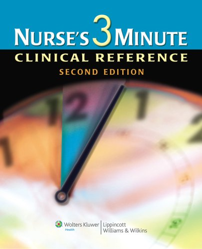 Nurse's 3-Minute Clinical Reference  2nd 2008 (Revised) 9781582556703 Front Cover