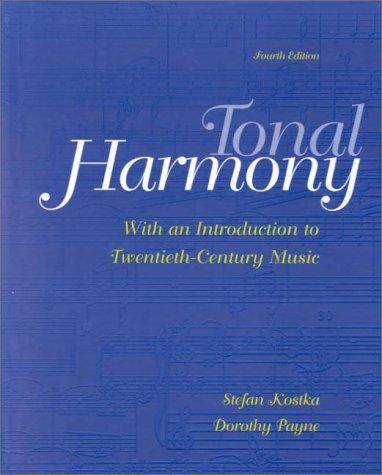 Tonal Harmony  4th 2000 edition cover