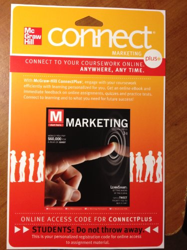 M: Marketing Connect Plus Marketing With Learnsmart 1 Semester Access Card:   2012 edition cover