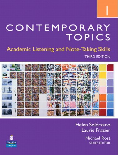 Contemporary Topics 1 Academic Listening and Note-Taking Skills (Intermediate) 3rd 2009 edition cover