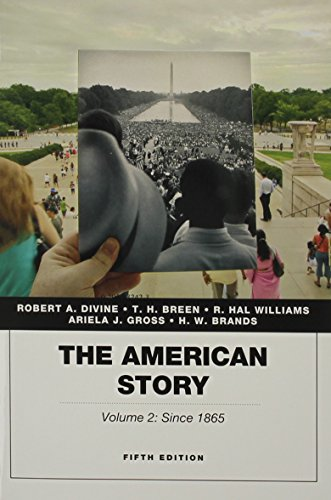 American Story, Vol. 2 Plus NEW MyHistoryLab with Pearson EText -- Access Card Package  5th 2015 9780134067704 Front Cover