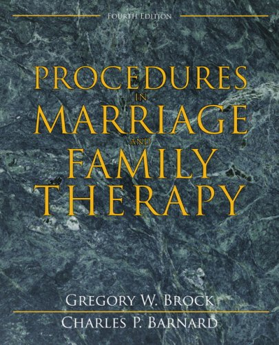 Procedures in Marriage and Family Therapy  4th 2009 edition cover