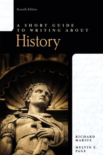 Short Guide to Writing about History  7th 2010 edition cover