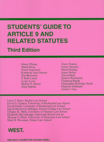 Students' Guide to Article 9 and Related Statutes  3rd 2011 (Revised) edition cover