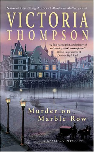 Murder on Marble Row   2004 9780425198704 Front Cover