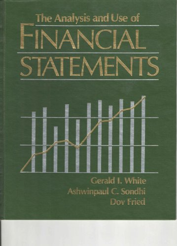 Analysis and Use of Financial Statements 1st 1994 9780471584704 Front Cover