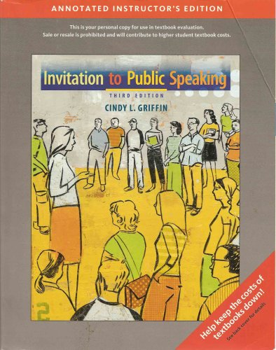 INVITATION TO PUBLIC SPEAKING N/A 9780495555704 Front Cover