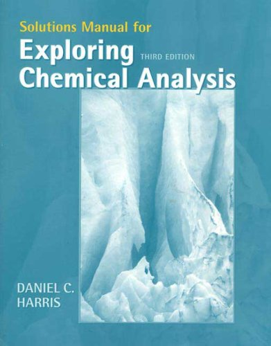 Chemical Analysis  3rd 2005 edition cover