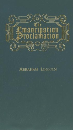 Emancipation Proclamation   1998 9781557094704 Front Cover