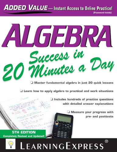 Algebra Success in 20 Minutes a Day  5th (Revised) edition cover