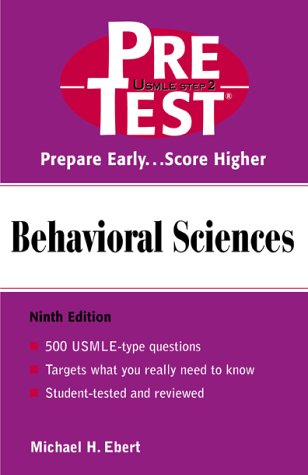 Behavioral Sciences PreTest Self-Assessment and Review 9th 2002 (Revised) 9780071374705 Front Cover