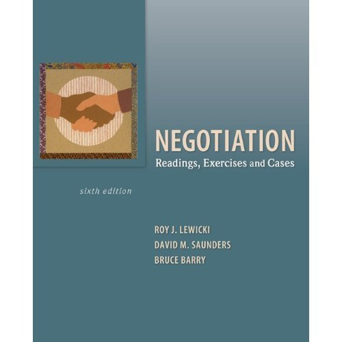 NEGOTIATION-W/RDGS.EXER+CASES, N/A 9780078007705 Front Cover