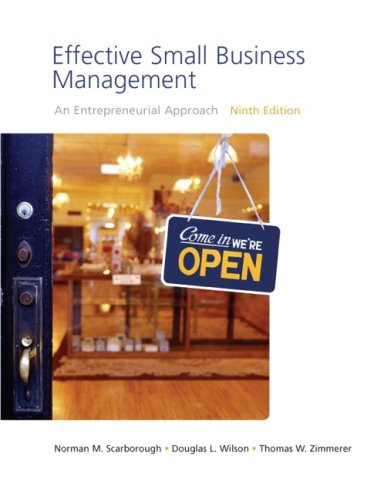Effective Small Business Management  9th 2009 9780136152705 Front Cover