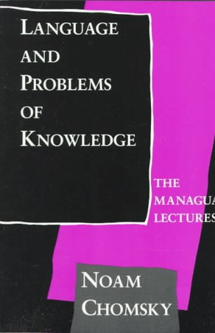 Language Problems of Knowledge The Managua Lectures 2nd 1987 9780262530705 Front Cover
