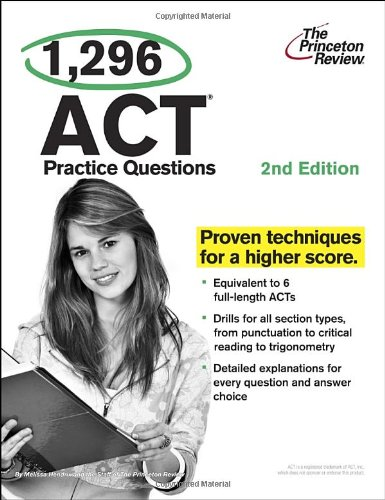1,296 ACT Practice Questions, 2nd Edition  N/A edition cover