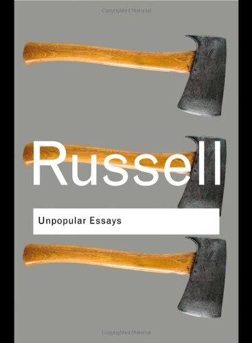 Unpopular Essays   2009 edition cover