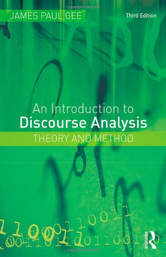 Introduction to Discourse Analysis Theory and Method 3rd 2011 (Revised) edition cover