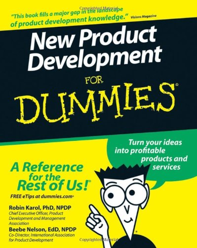New Product Development for Dummies   2007 edition cover