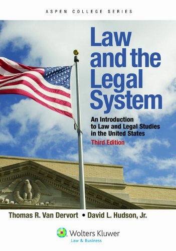 Law and the Legal System An Introduction to Law and Legal Studies in the United States 3rd 2012 edition cover