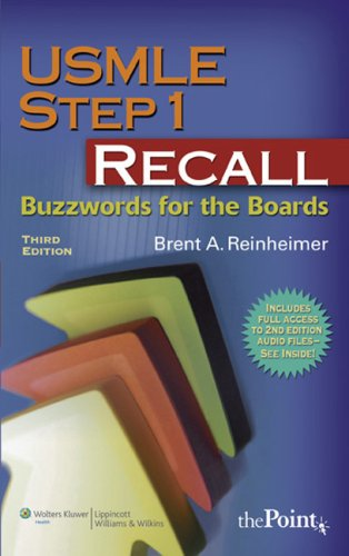 USMLE Step 1 Recall Buzzwords for the Boards 3rd 2007 (Revised) edition cover