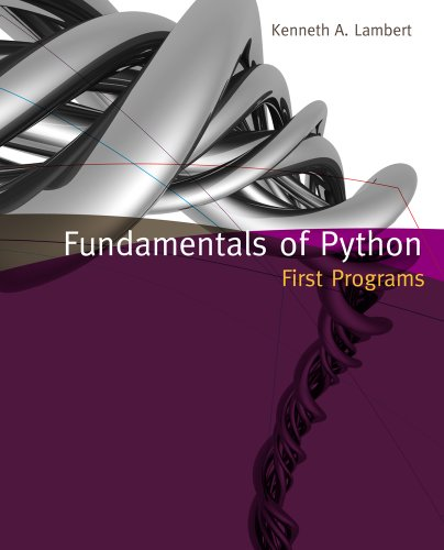 Fundamentals of Python First Programs  2012 edition cover